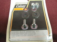 COLONY CHROME LICENSE PLATE MOUNTING KIT HARLEY FATBOY HERITAGE TOURING FXD FXR