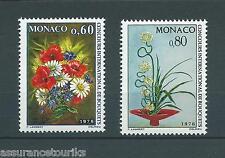 MONACO FLEURS - 1975 YT 1035 à 1036 - TIMBRES NEUFS** LUXE