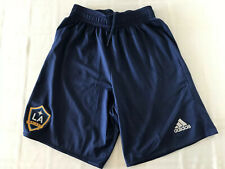 ADIDAS  CLIMALITE LA GALAXY SOCCER SHORTS BLUE YOUTH SZ XL. TS0