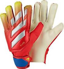 adidas Adult X-Lite Soccer Goalie Gloves Red/Yellow/Football Blue Size 8 FS!