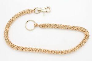 Men Gold Metal Key Wallet Chain Multi Ring Links Jeans Holder Biker Westen Style
