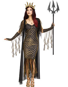 Sea Queen Womens Adult Royal Siren Mermaid Halloween Costume