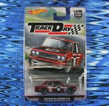 New Listing2016 Hot Wheels Datsun Bluebird 510 Dark Red Track Day w/Protector Box Shipped