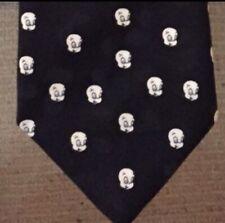 Casper the Ghost 1995 Vtg faces polyester black men's neck tie