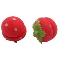 12x Strawberry Hair Rollers Soft Foam Sponge Curlers Curls Balls Styling Tools Y