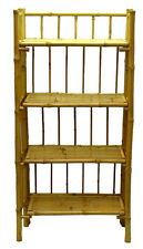 Bamboo Tiki Bookcase Shelf 4-tier Rack Patio Deck or Indoor Folding