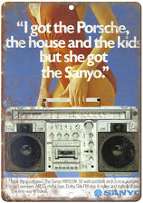 """Sanyo Boombox Ghetto Blaster 10"""" x 7"""" reproduction metal sign D63"""