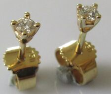 Secondhand 18ct yellow gold brilliant round cut diamond (0.05ctx2) stud earrings