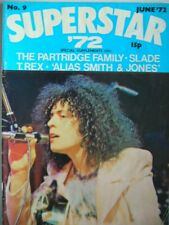 Superstar '72 - Issue No: 9 from April 1972 Partridge Family, T. Rex, Slade VG+