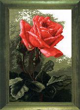 Pink Rose - Cross Stitch Kit with Color Symbolic Scheme SKU:443