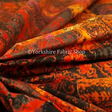 Soft Printed Velvet Patchwork Red Damask Traditional Pattern Upholstery Fabric