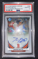 2014 Bowman Chrome Mookie Betts Autograph Prospects PSA 10 #MB Red Sox Rookie