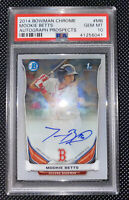 2014 Bowman Chrome Mookie Betts Autograph Prospects PSA 10 #MB Red Sox Rookie