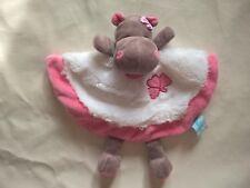 Doudou Babynat Baby'nat hippopotame Zoe blanc et rose plat BN082 2 dispos