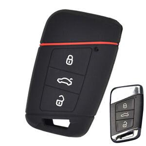 Silicone Case Cover fit for VW PASSAT B8 Skoda Kodiaq Superb 3 Button Flip