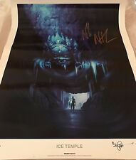 Uncharted - Ice Temple Lithograph # 43/300 - Signed by Andrew Kim & Nolan North