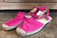 GAP Women's Happy Pink Magenta Lace-up Espadrilles Sandals Shoes Size 6 New