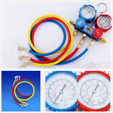 Car Vehicles Air Conditioning Fluoride Gauge Refrigerant Double Meter Valve R134