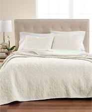 Martha Stewart FULL/QUEEN Quilt Velvet Flourish Ivory T95113
