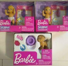 MATTEL BARBIE Skipper babysitters Baby Babies Dog ACCESSORIES FASHION Lot of 3