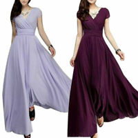 Party Bridesmaid Chiffon Ball Gown Evening Cocktail Dress Women Long Formal Prom