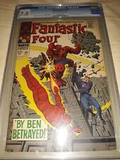 Fantastic Four # 69 CGC 7.0 (F/VF) 1967 - Mad Thinker App - Kirby  Sinnott Cover