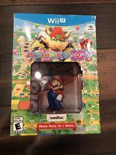 Mario Party 10 + Mario Amiibo Bundle - Nintendo Wii U Brand New Factory Sealed