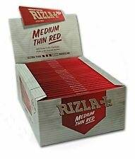 Rizla Red King Size Medium Thin Cigarette Rolling Papers, Box of 50
