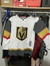 ADIDAS NHL LAS VEGAS Golden Knights Authentic AWAY Hockey Jersey Size 50 NWT