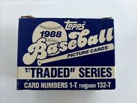 1988 Topps Traded Baseball Factory Set 1-132 Grace Alomar Martinez RC Rookies