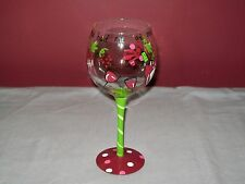 "HAND PAINTED WINE GLASS / ""YOU HAD ME AT MERLOT"" / NOVELTY WINE GLASS"