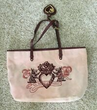 JUICY COUTURE PINK VELOUR TOTE PURSE
