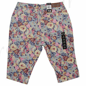 New Jeans Colony Women's Casual Jeans Capri Summer Casual Floral 14 16 18 20 22