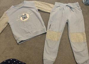 Boys Mitch & Son Blue Tracksuit Jumper Trouser Outfit Set Age 5