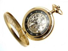 Pocket Watches For Men Gifts For Men Half Hunter Gold Plated Pocket Watches