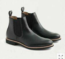 JCREW Leather Chelsea Boots Sz 10 Black Men's shoes F4449