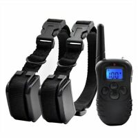 Shock 300m Rechargeable Dog IP67 Pet Waterproof Remote Training Trainer Collar