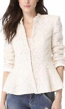 Alice + Olivia Polly Peplum Lace Jacket Ivory Size M NWOT
