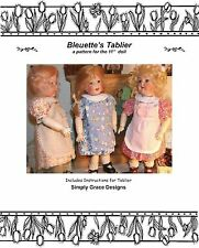 Bleuette Doll Apron (Tablier)  Sewing Pattern  ~ Simply Grace Designs