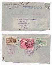 1955 Pérou air mail Cover Lima à Los Angeles USA