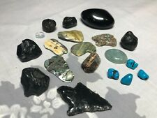 Collection of rocks Stones Polished Crude many colors & Arrow Head