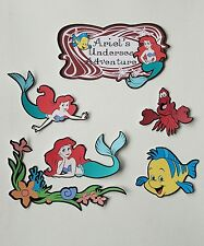 Disneys the little mermaid printed scrapbook page die cut  set 7