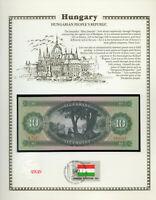 Hungary 10 Forint 1969 P 168d UNC w/FDI UN FLAG STAMP Fancy serie A.741  019245