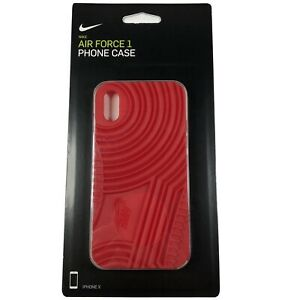 NIKE AIR FORCE 1 PHONE CASE  FITS IPHONE X Red