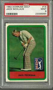 1982 Donruss Golf Jack Nicklaus #16 PSA 9 MINT Short Printed