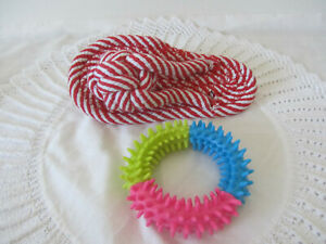 2 Piece Dog Rope Toys Tough Strong Chew Pet Puppy Cotton Toy New