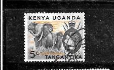 Kenya, Uganda & Tanzania Sc #115 1954 5 Shilling Old Definitive Stamp
