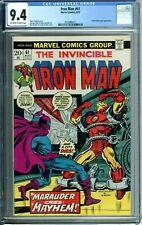 IRON MAN 61 CGC 9.4 MASKED MARAUDER appearance NEW CGC CASE Marvel Comics 1973