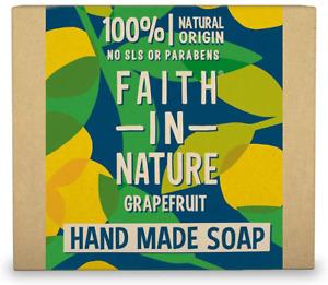 Faith in Nature Natural Grapefruit Hand Soap Bar, Invigorating Vegan & Cruelty F