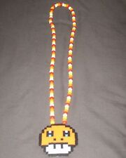 NEW Mushroom Pokemon Charmander Kandi Perler Necklace EDM EDC Fest Rave Dance